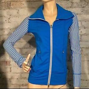 Lululemon Daily Yoga Blue White Striped Jacket